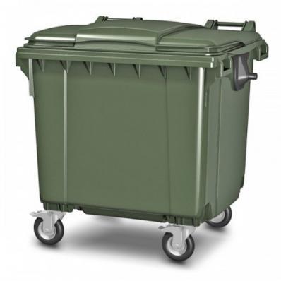 Мусорный Контейнер 1100 л. Зелёный Цвет
