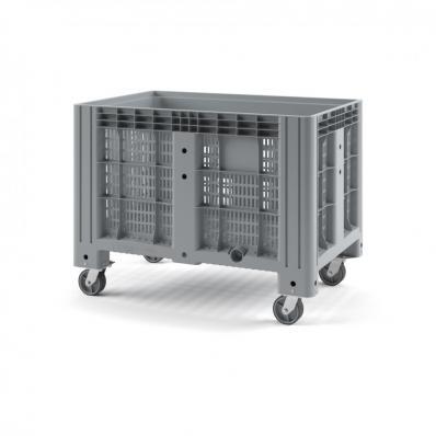 Контейнер IBOX 1200х800х800 перфорированный на колесах